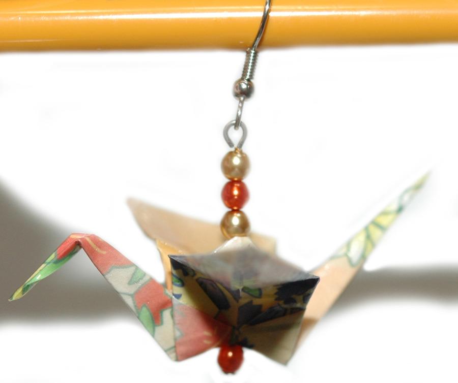 Beautiful Origami Crane Dangle Earrings 5 Colors Ebay