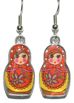 MATRYOSHKA-RUSSIAN-DOLL-DANGLE-EARRINGS-4-COLORS-U-PICK