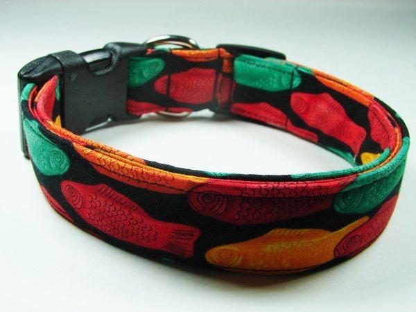 Charming swedish fish candy dog collar ebay for Fish dog collar