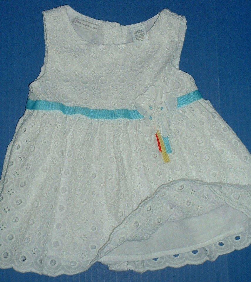 Girls White Summer Dresses 0-3M 6M 6-9M 12M 18M 24-30M 3T Grp 1