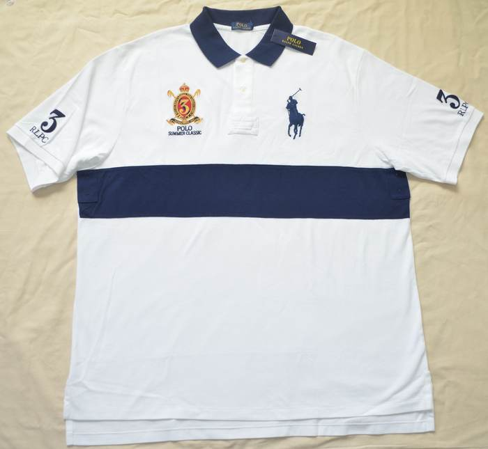 New 3xb 3xl big 3x polo ralph lauren men big pony rugby for Big and tall polo rugby shirts