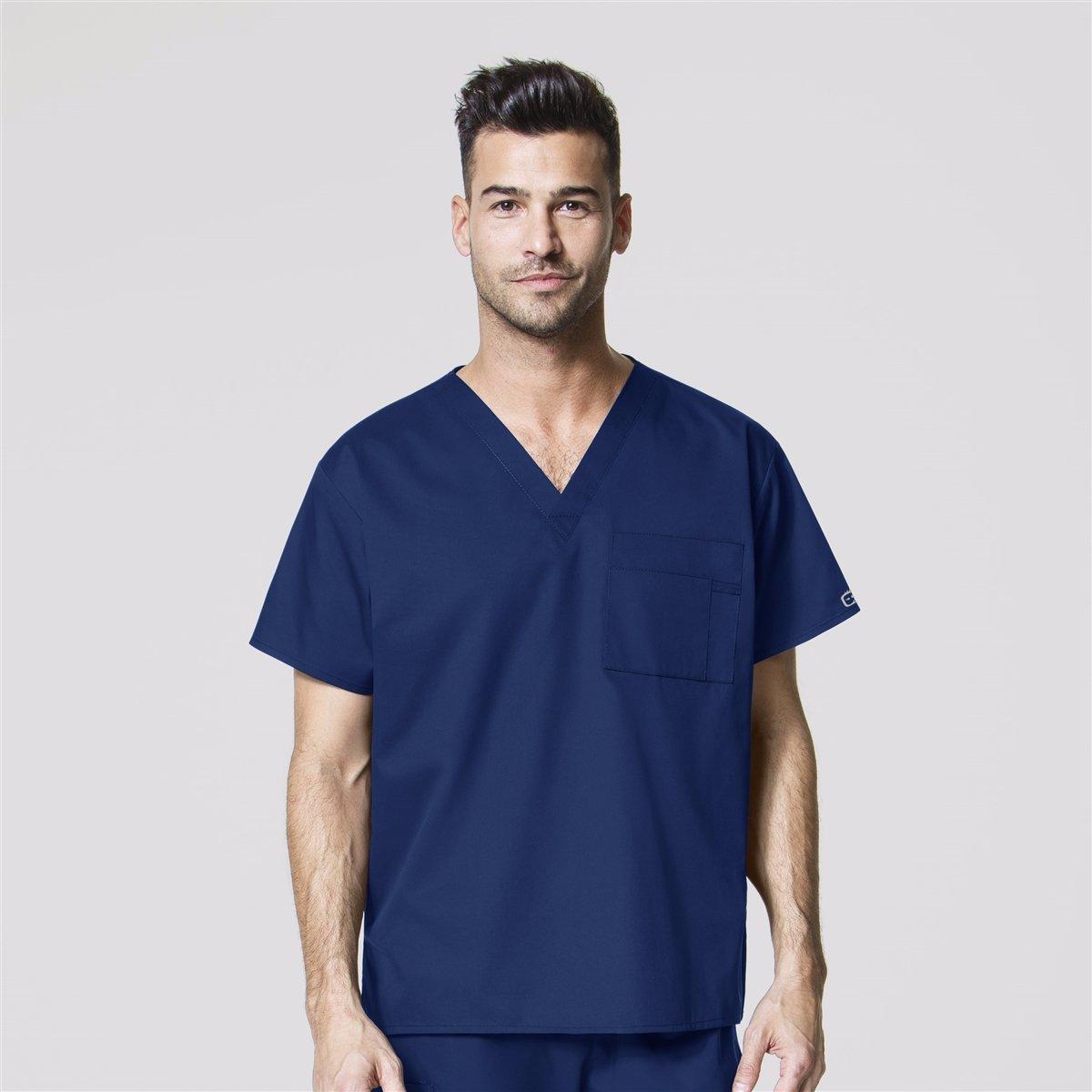 Wonderwink Medical Scrub CBL Zip Front V-Neck Scrub Top Size XS-XXL NWT