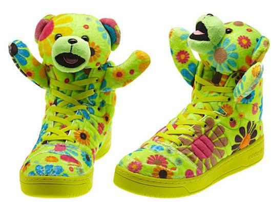 Auténtico Adidas JEREMY SCOTT BEAR entrenadores Teddy